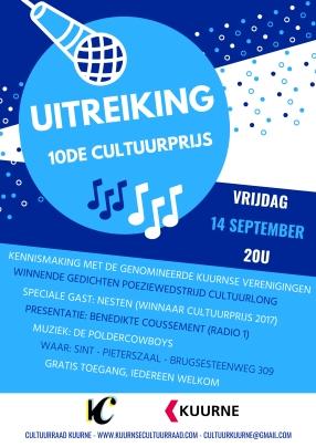 affiche Cultuurprijs 2018